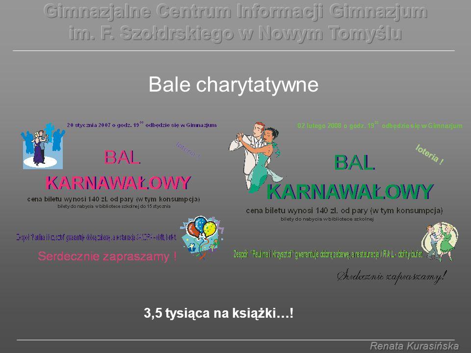Bale charytatywne 3,5 tysiąca na książki…!