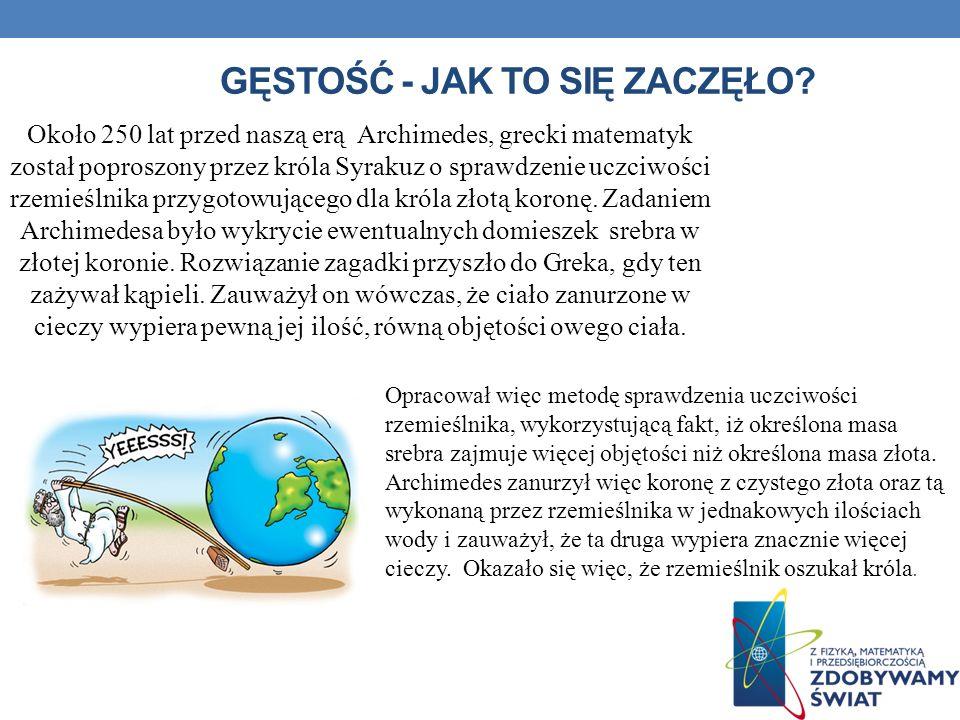 Bibliografia http://astrofiz.pl/fizyka/doswiadczenia/mechanika/gestosc cialstalych/strona.html http://astrofiz.pl/fizyka/doswiadczenia/mechanika/gestosc cialstalych/strona.html http://www.fizykon.org/wlk_podstawowe/czytanki_gestosc.