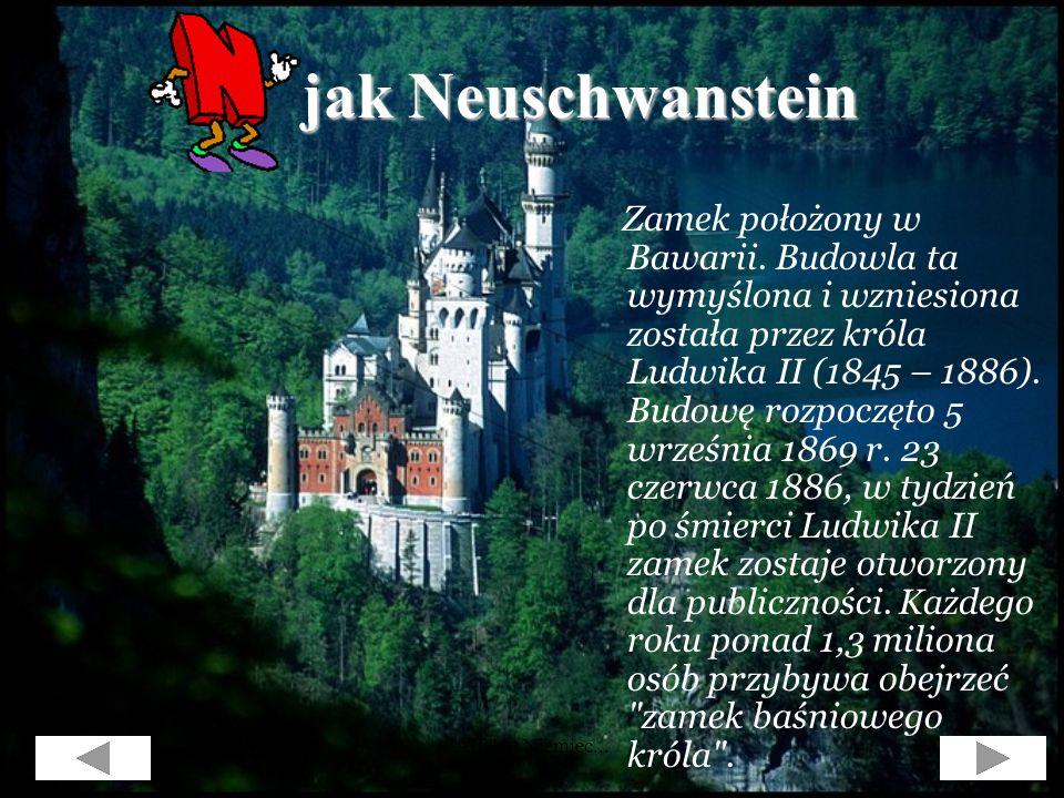 Alfabet Niemiec... jak Mauer (Berliner Mauer), jak Mauer (Berliner Mauer), czyli Mur Berliński... Budowla ta powstała w roku 1961 i oddzielała Niemcy