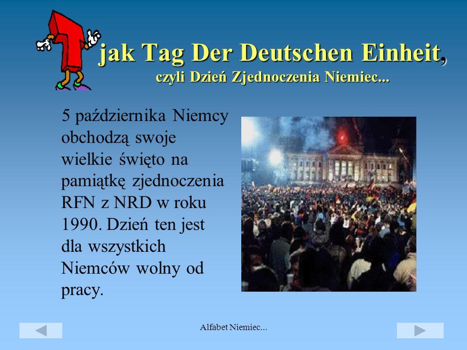 Alfabet Niemiec... jak Städte, czyli miasta.. Ważniejsze miasta Berlin (stolica) 3 435 000 Bonn 297 500 Brema (Bremen) 565 000 Dortmund 595 000 Drezno