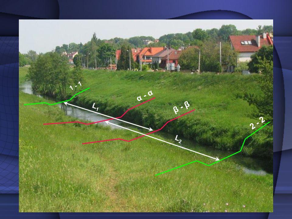 F F Zestawienie wyników Korzystając z obliczeń w programie AutoCad, otrzymujemy pole powierzchni przekroju i jego obwód zwilżony.