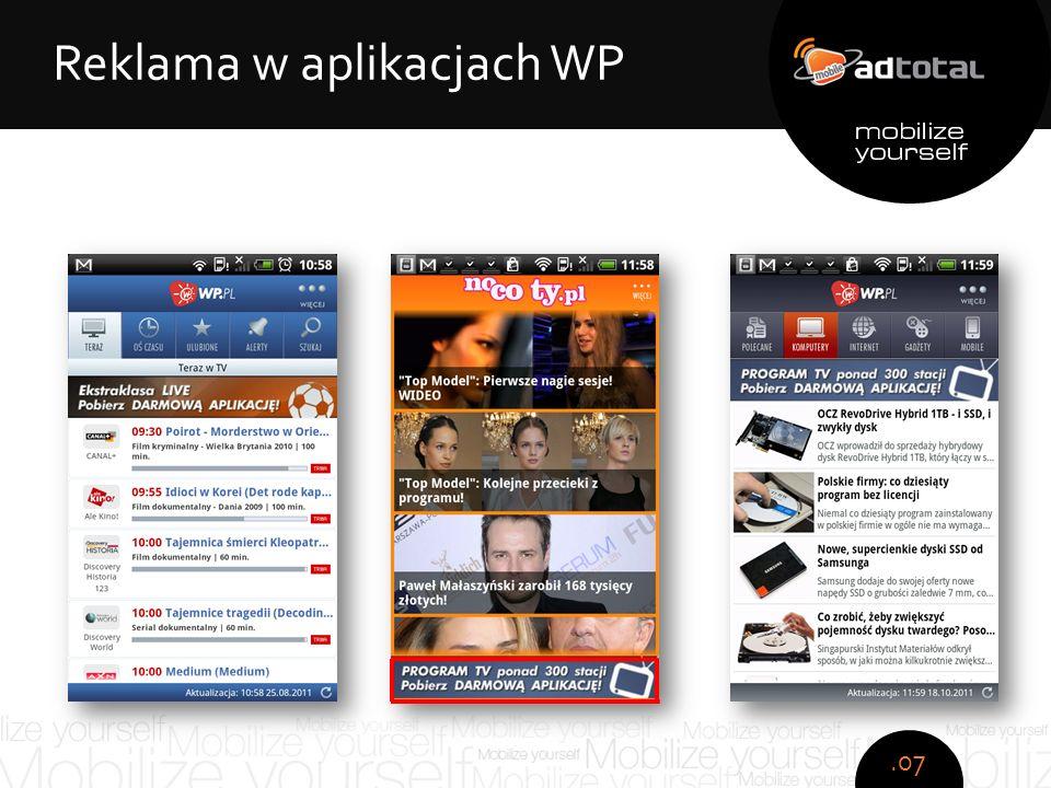 Copyright: Wirtualna Polska S.A. Zespół obsesyjno - kompulsywny Reklama w aplikacjach WP.07