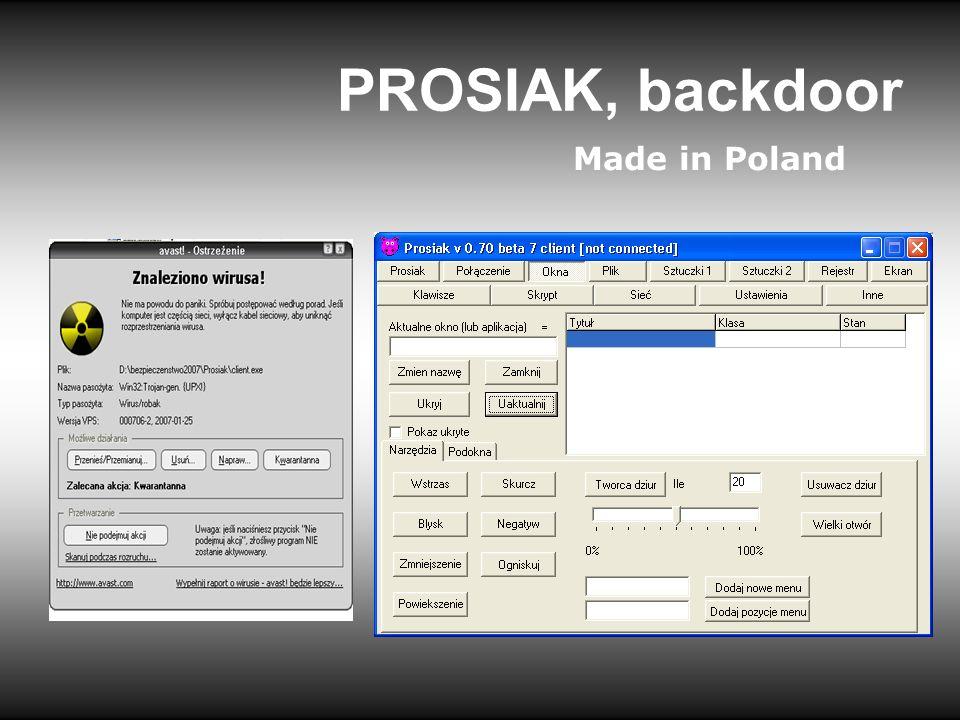 PROSIAK, backdoor Made in Poland