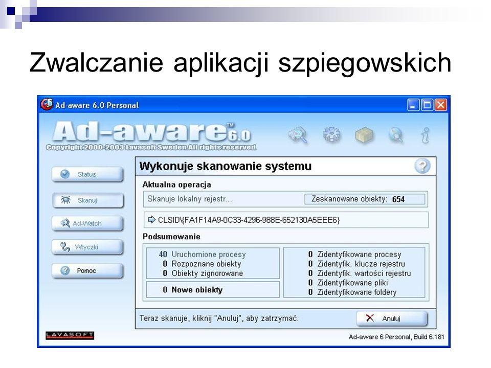Zwalczanie aplikacji szpiegowskich