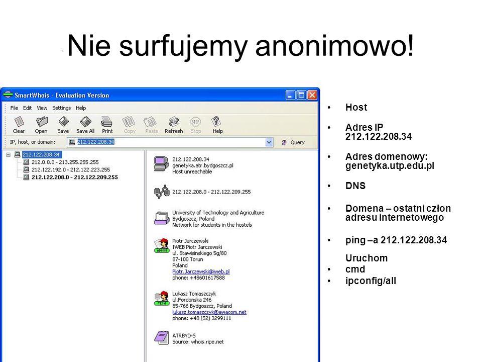 Nie surfujemy anonimowo.