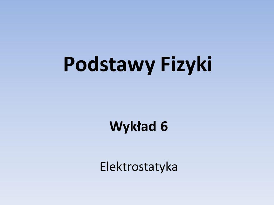 Podstawy Fizyki Wykład 6 Elektrostatyka