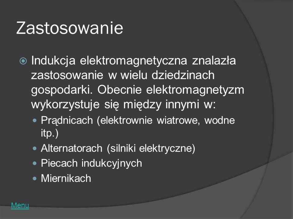 Zastosowanie Indukcja elektromagnetyczna znalazła zastosowanie w wielu dziedzinach gospodarki. Obecnie elektromagnetyzm wykorzystuje się między innymi