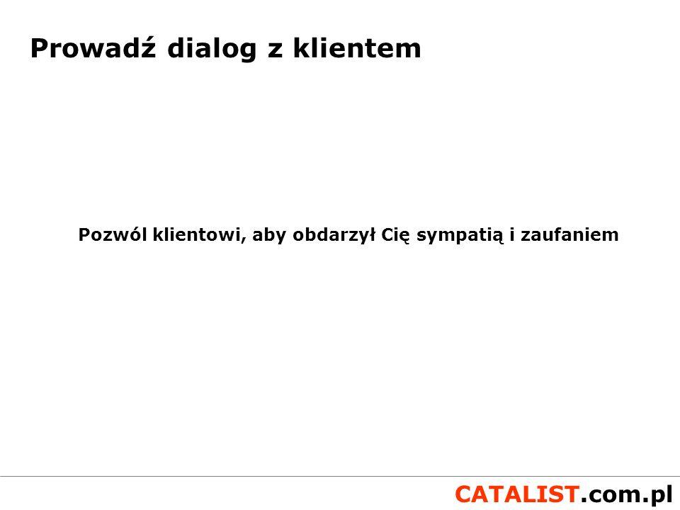 CATALIST.com.pl Case study Tygodnik e-mailowy w systemie SUBskrypcja.pl dla serwisu satyrycznego wydawnictwa SuperPress - DobryHumor.pl personalizacja treści wiek (humor dla dorosłych) - horoskop, biorytm płeć, imię (formy osobowe) zainteresowania (treść reklam) preferencje (układ wiadomości, program TV) permission marketing double opt-in łatwa i automatyczna rezygnacja wynik 20.000 zadowolonych czytelników
