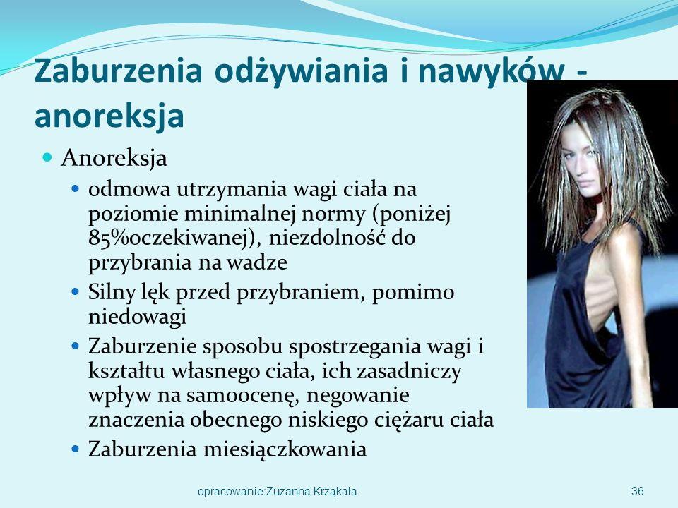 Anoreksja 35opracowanie:Zuzanna Krząkała