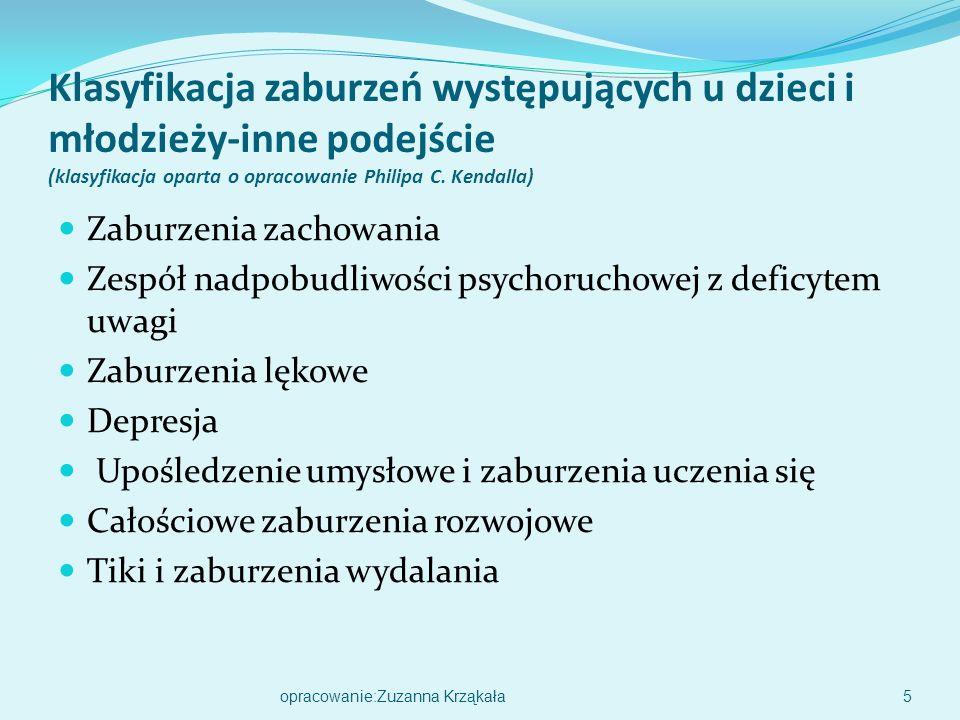 Klasyfikacja zaburzeń występujących u dzieci i młodzieży-inne podejście (klasyfikacja oparta o opracowanie Philipa C.