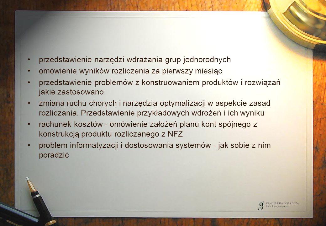 Przebieg procesu restrukturyzacji dla SP ZOZ dla kategorii C Biegły rewident Organ założycielski SP ZOZ BGK – agent SP Komitet Sterujący Wojewoda NFZ 8).