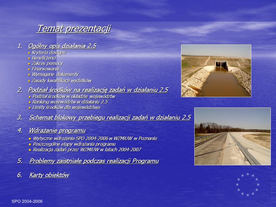 Realizacja zadań przez WZMiUW w latach 2004-2007