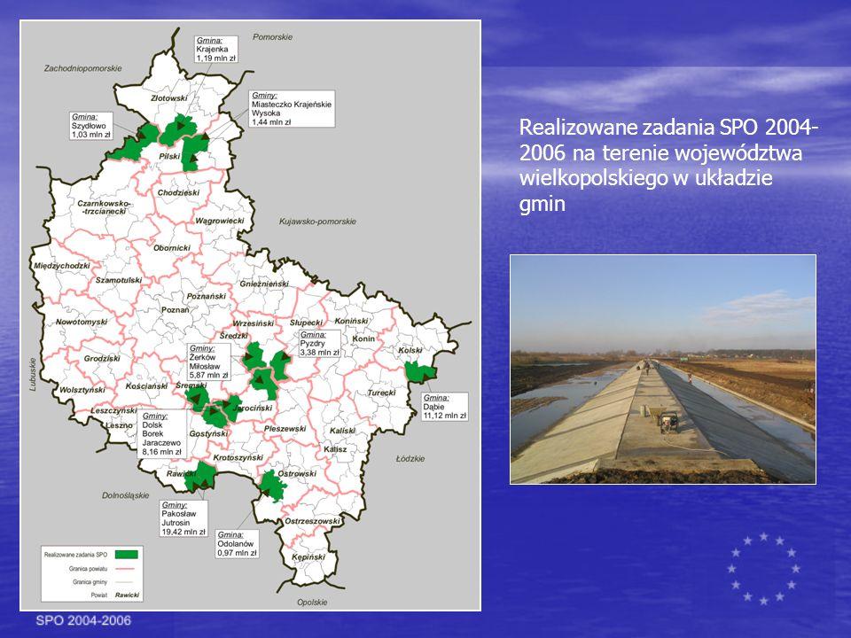 Realizowane zadania SPO 2004- 2006 na terenie województwa wielkopolskiego w układzie gmin