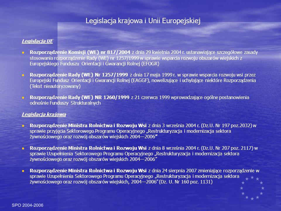 Legislacja UE Rozporządzenie Komisji (WE) nr 817/2004 z dnia 29 kwietnia 2004 r.