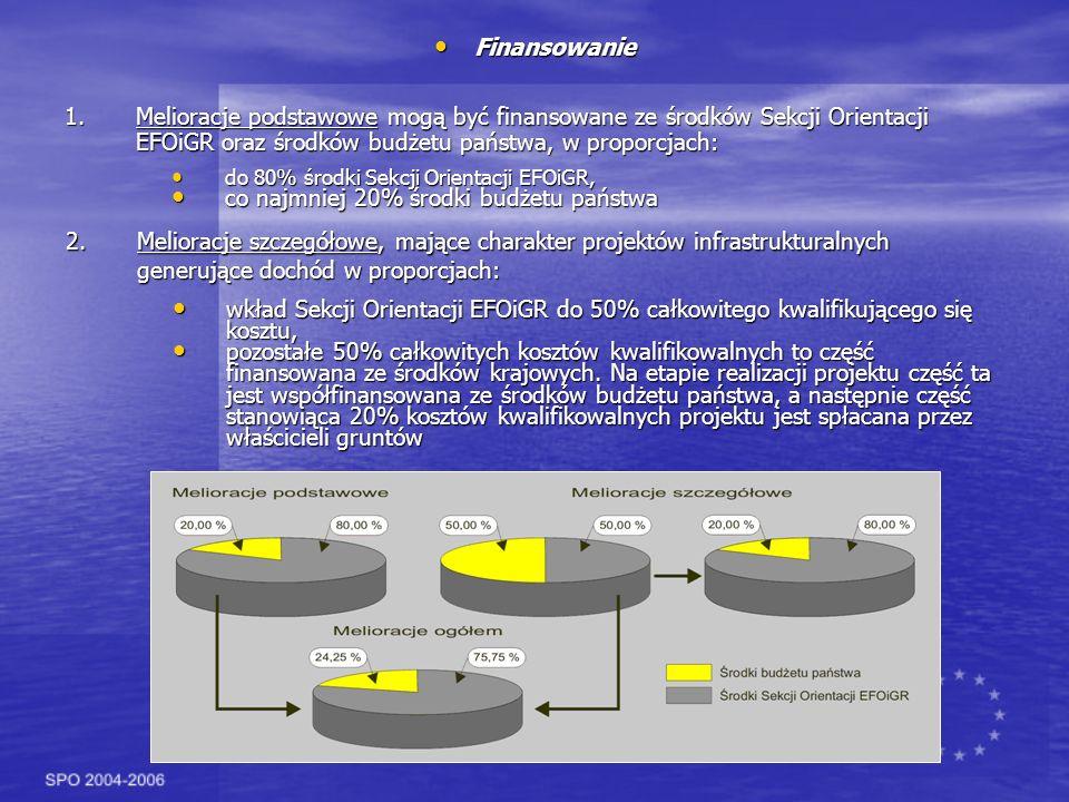 Wymagane dokumenty Wymagane dokumenty Projekty dotyczące budowy lub modernizacji urządzeń melioracji wodnych szczegółowych jak i podstawowych oraz kształtowania przekroju podłużnego i poprzecznego oraz układu poziomego koryta cieku naturalnego, wykraczające poza działania związane z utrzymaniem wód, mogą być realizowane, jeżeli: uzyskano pozwolenie wodnoprawne, zgłoszono budowę lub uzyskano pozwolenie na budowę, dokonano oceny wpływu na środowisko, jeżeli jest wymagane, uzgodniono projekt z zainteresowanymi województwami, regionalnymi zarządami gospodarki wodnej, a w przypadku wód granicznych - z zainteresowanymi państwami, uzgodniono projekt techniczny inwestycji z konserwatorem przyrody, jeżeli jest wymagane, opracowano plan finansowy i określono źródła finansowania, koszt projektu według kosztorysu inwestorskiego wynosi co najmniej 120 tys.