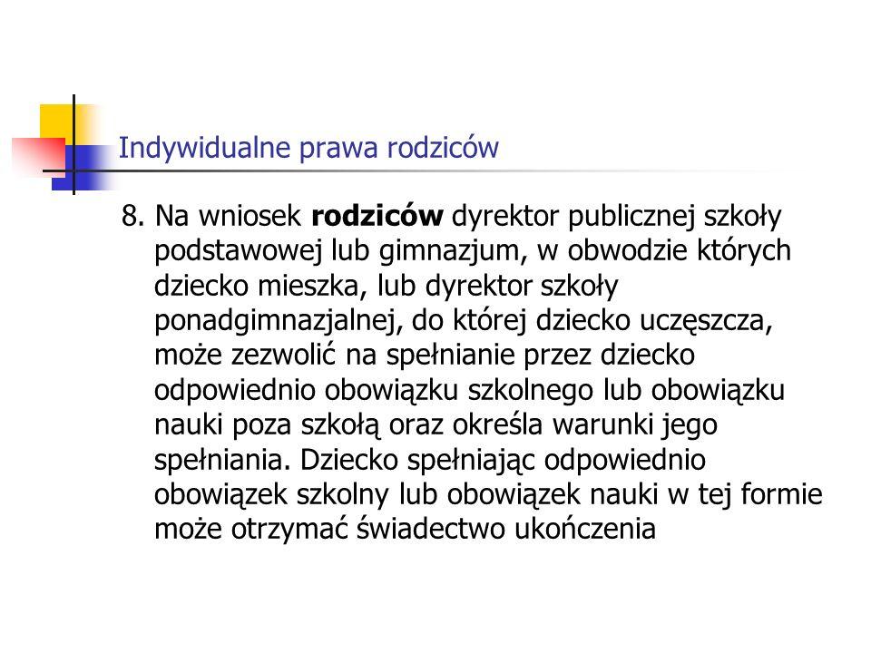 Indywidualne prawa rodziców 8.