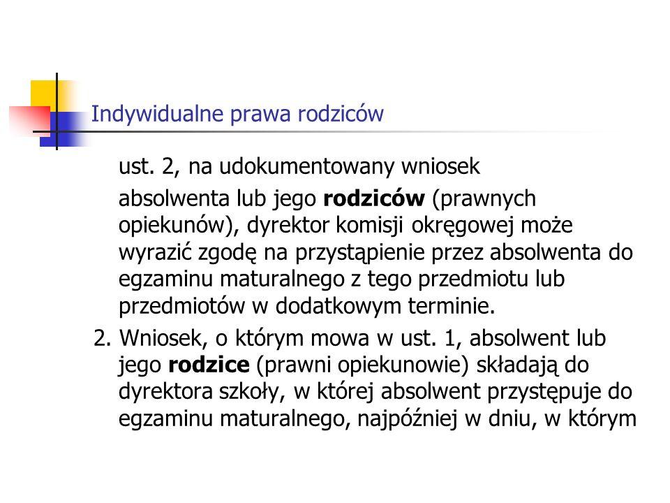 Indywidualne prawa rodziców ust.