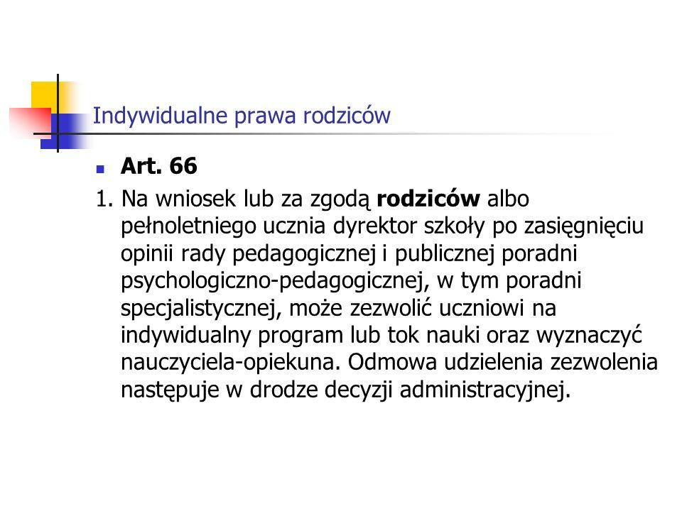 Indywidualne prawa rodziców Art.66 1.