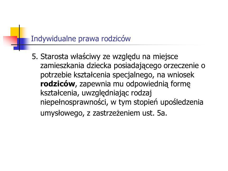 Indywidualne prawa rodziców 5.