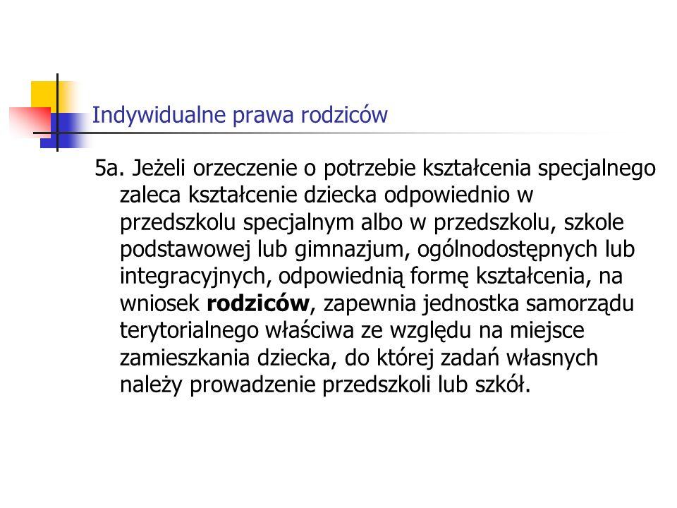 Indywidualne prawa rodziców 5a.