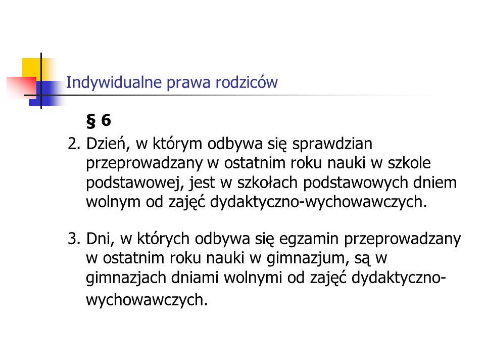 Indywidualne prawa rodziców § 6 2.