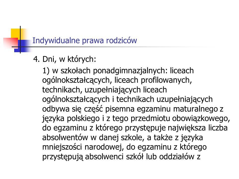Indywidualne prawa rodziców 4.