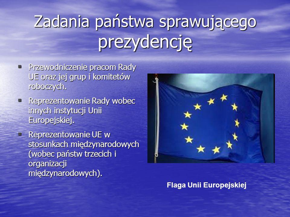 Zadania państwa sprawującego prezydencję Przewodniczenie pracom Rady UE oraz jej grup i komitetów roboczych. Przewodniczenie pracom Rady UE oraz jej g