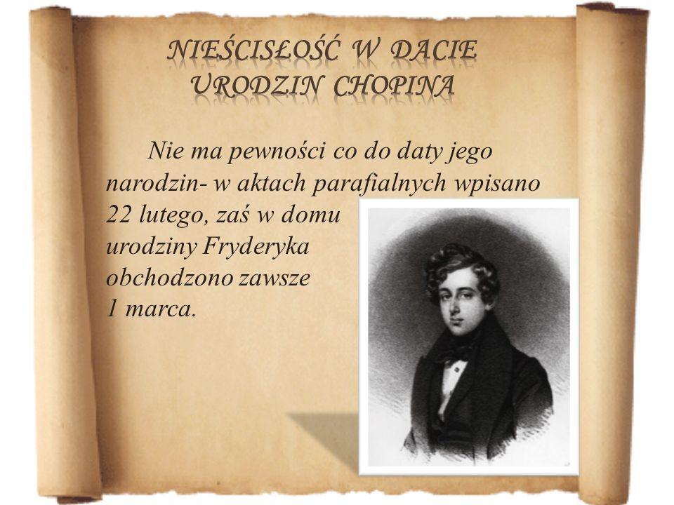 Jego dorobek kompozytorski to m.in.: 57 mazurków, 16 polonezów, 19 walców, 19 nokturnów, 4 ballady, 4 scherza, 26 preludiów, 27 etiud, 4 impromptus, 3 sonaty fortepianowe, jedna na wiolonczelę i fortepian,
