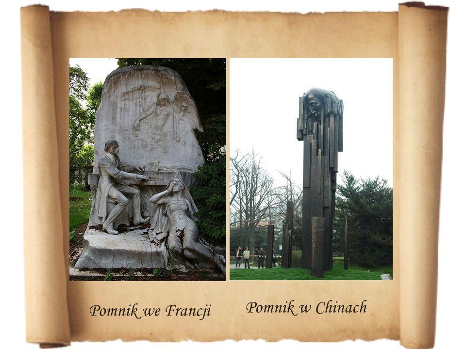 Pomnik we Francji Pomnik w Chinach