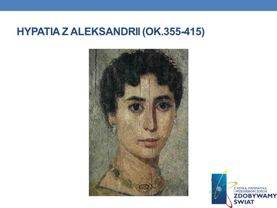 HYPATIA Z ALEKSANDRII (OK.355-415)