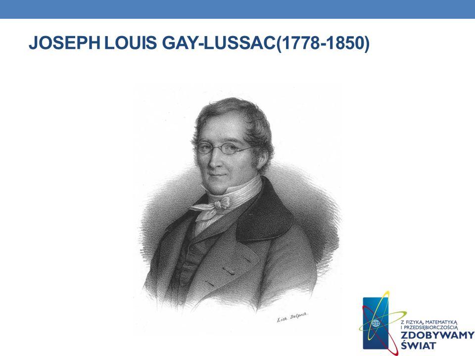 JOSEPH LOUIS GAY-LUSSAC(1778-1850)