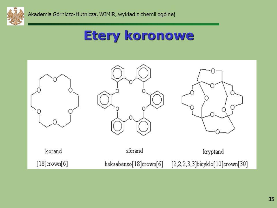 Akademia Górniczo-Hutnicza, WIMiR, wykład z chemii ogólnej 35 Etery koronowe