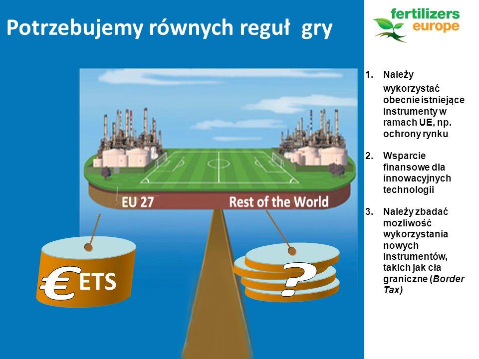 Potrzebujemy równych reguł gry ETS 1.Należy wykorzystać obecnie istniejące instrumenty w ramach UE, np.