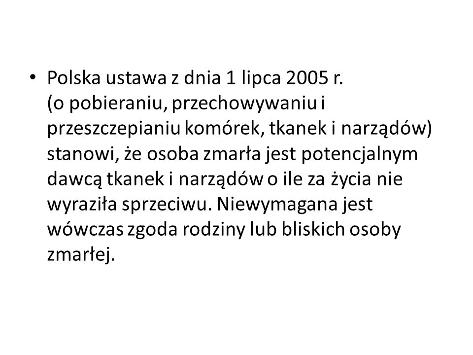 Polska ustawa z dnia 1 lipca 2005 r.