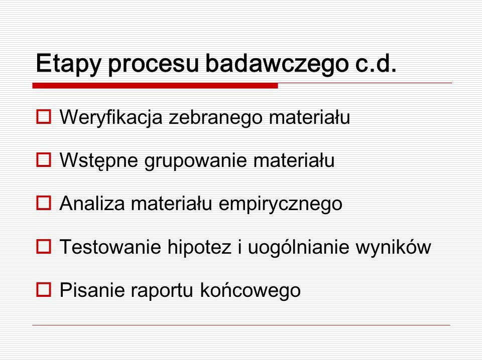 Wstępne sformułowanie problemu Wyraźne określenie paradygmatu teoretycznego (T.