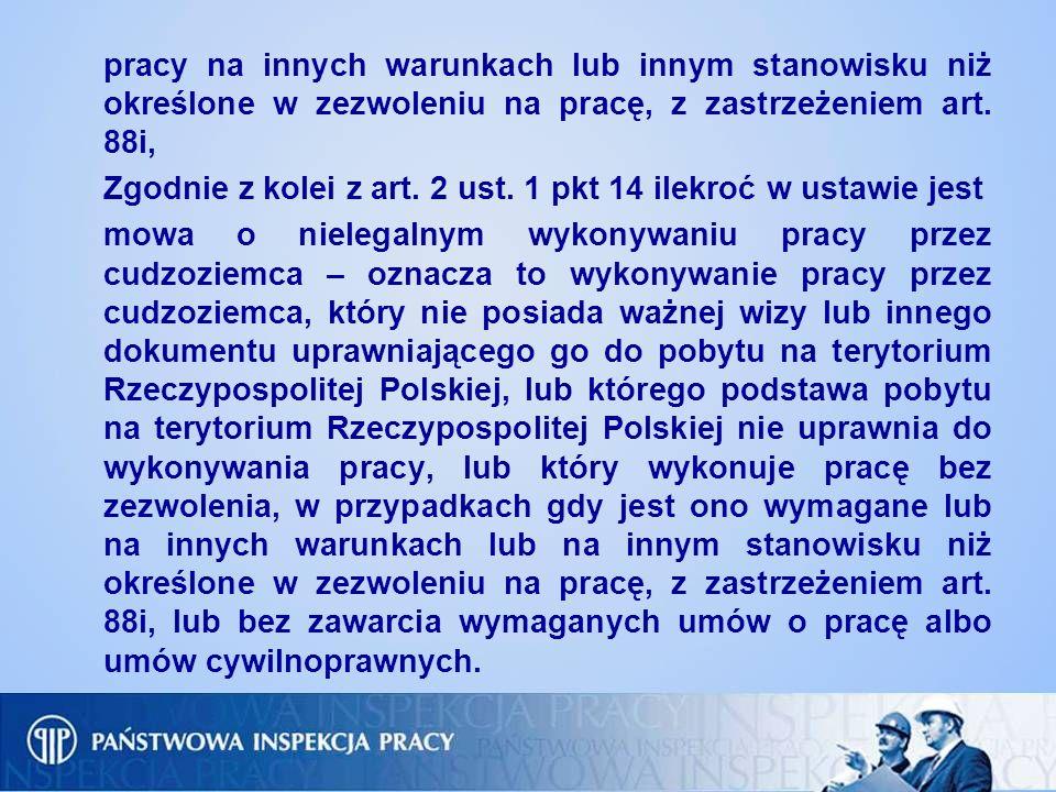 W razie stwierdzenia w toku kontroli wykroczenia polegającego na naruszeniu przepisów ustawy z dnia 20 kwietnia 2004 r.