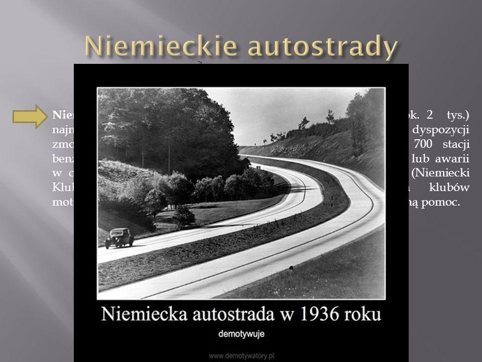 Niemieckie autostrady to sieć prawie 13.000 km (w Polsce ok.