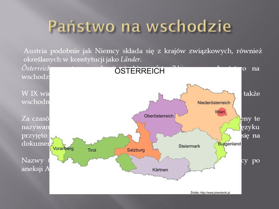 Österreich ze starowysokoniemieckiego ôstarrîhhi, znaczy państwo na wschodzie .