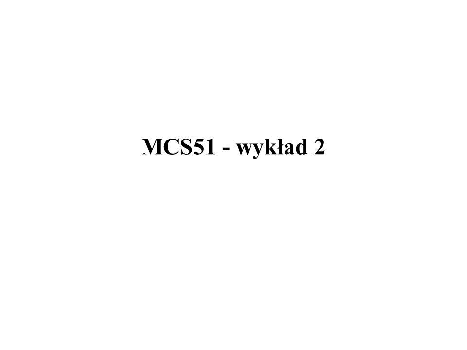 MCS51 - port P2 12/17 Struktura bitu portu P2 - quasi-dwukierunkowego D Q C Q Vcc P2.X zewn.