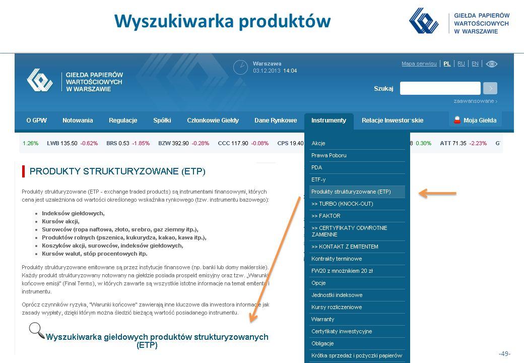 -49- Wyszukiwarka produktów