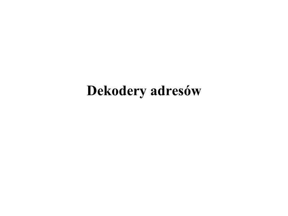 Dekodery 1/15 Konstrukcje dekoderów Wykorzystanie dekoderów