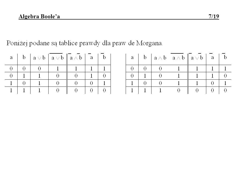 Algebra Boolea 7/19