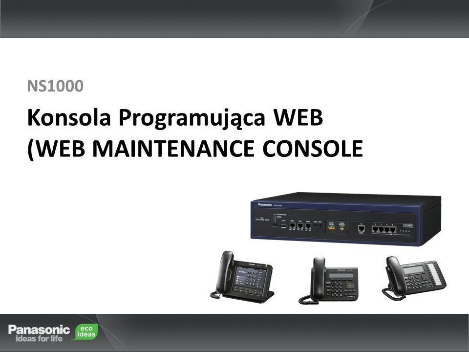 Konsola Programująca WEB (WEB MAINTENANCE CONSOLE NS1000
