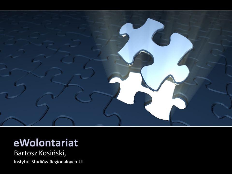 eWolontariat Bartosz Kosiński, Instytut Studiów Regionalnych UJ