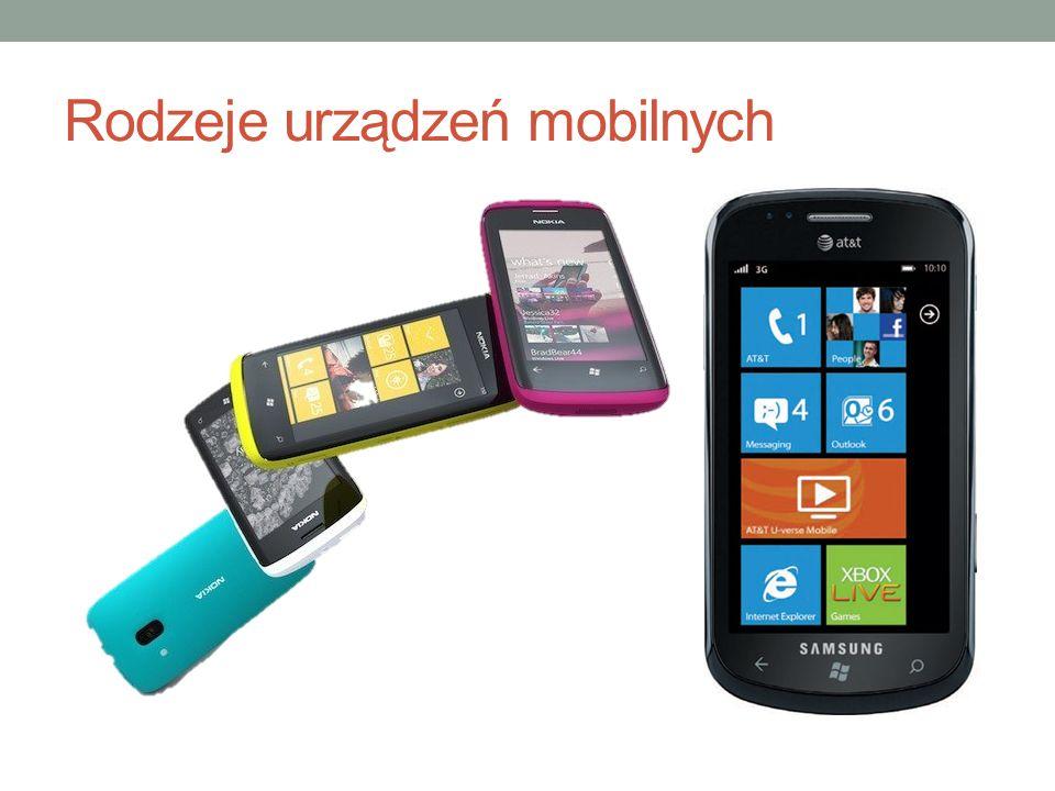 Rodzeje urządzeń mobilnych