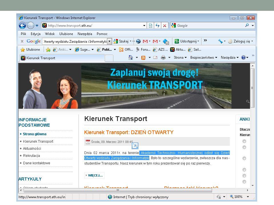 Tradycyjny model przetwarzania żądania Element Strony www Lp.
