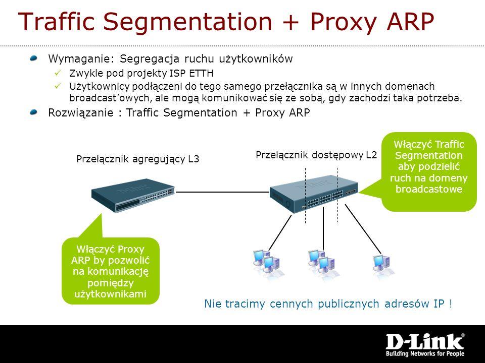 Wymaganie: Segregacja ruchu użytkowników Zwykle pod projekty ISP ETTH Użytkownicy podłączeni do tego samego przełącznika są w innych domenach broadcas