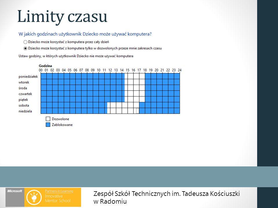 Zespół Szkół Technicznych im. Tadeusza Kościuszki w Radomiu Limity czasu