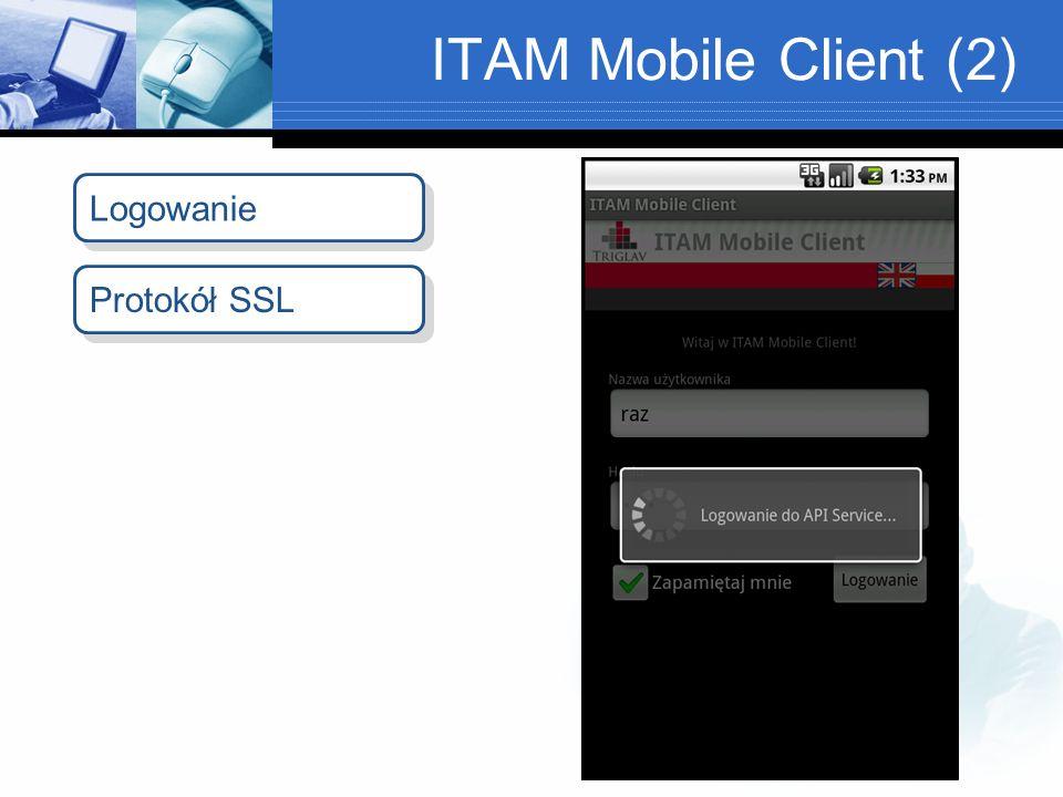ITAM Mobile Client (2) Protokół SSL Logowanie