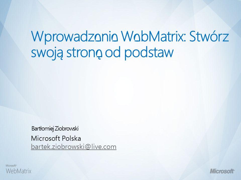 Web Matrix przegląd zagadnień – Workspace oparty na plikach.